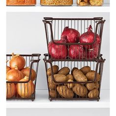 Organize your pantry with pantry organizers from The Container Store! Our pantry organizers come in many designs and sizes to fit any kitchen pantry space. Onion Storage, Dog Food Storage, Pantry Storage, Pantry Organization, Storage Baskets, Kitchen Storage, Kitchen Organizers, Potato Storage, Pantry Ideas