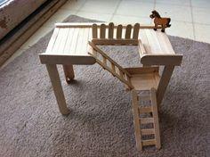 DIY small animal platform. I would add a rail though.