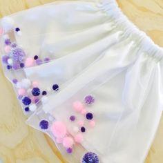 Floating Pom Pom Skirt by KittyAlarm on Etsy