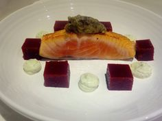 Fennel Cured Salmon with Beetroot Jelly and Pesto Goats Cheese. - Fine Dining Recipes   Food Blog   Restaurant Reviews   Fine Dining At Home