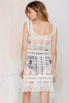 Nasty Gal Look Back Crochet Dress