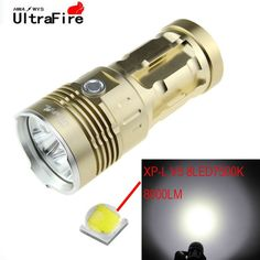 UltraFire 750lm 8-LED Cool White 3-Mode Flashlight Torch - Golden (4 x 18650). Note: We are currently unable to ship to addresses in HongKong, mainland of China.. Tags: #Lights #Lighting #Flashlights #LED #Flashlights #18650 #Flashlights