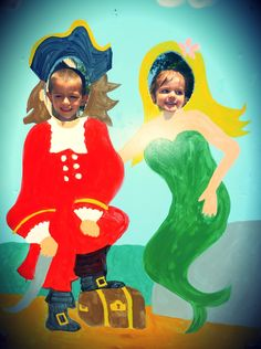 Photo booth idea for under the sea/nautical party