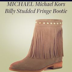Michael kors billy studded fringe boots Beautiful ankle boots ,from Michael kors,brand new ,never used ,perfec condition,super comfy . Michael Kors Shoes