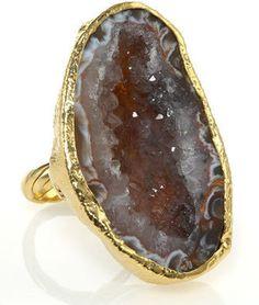 Dara Ettinger Kendra Adjustable Half-Geode Ring