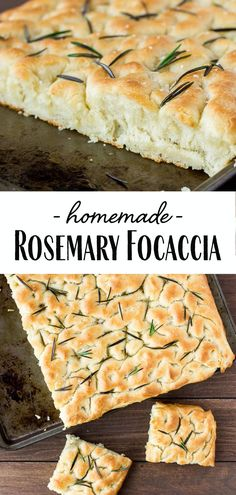 Homemade Rosemary Focaccia Focaccia is a classic Italian bread recipe. This Homemade Rosemary Focaccia version has a a crisp crust, chewy center, and hints of salt and rosemary in every bite! Italian Appetizers, Great Appetizers, Appetizer Recipes, Italian Snacks, Italian Dinners, Cold Appetizers, Dessert Recipes, Italian Bread Recipes, Italian Focaccia Recipe