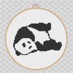 40% OFF code: CYBERMONDAY40- Panda Silhouette Cross Stitch PDF Pattern