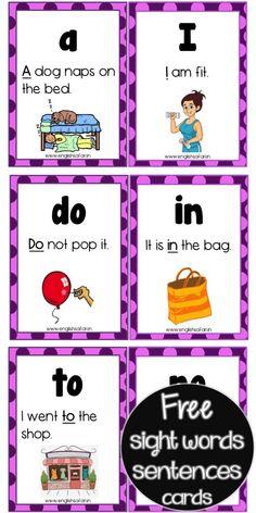 Sight Word Sentences, Sight Word Flashcards, Sight Word Worksheets, Preschool Worksheets, Kindergarten Reading Activities, Phonics Reading, Literacy, Homeschool Kindergarten, Guided Reading