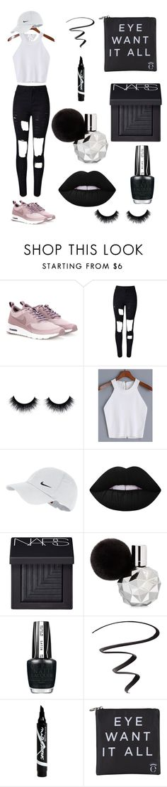 """""""RIHANNA INSPIRED"""" by breneamrkt on Polyvore featuring NIKE, Lime Crime, NARS Cosmetics, OPI, L'Oréal Paris, Maybelline and Eyeko"""