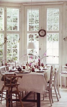 light and airy dining room, not at all formal, just sweet