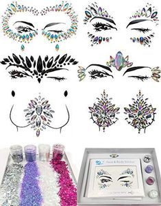 6 Sets Festival Rhinestones Rave Mermaid Face Jewel Women Mermaid Face Gems Glitter Gift (Dream Set) >>> Visit the image link more details. (As an Amazon Associate I earn from qualifying purchases) Glitter Gifts, Body Glitter, Body Makeup, Eye Makeup, Festival Face Gems, Girls One Piece Swimsuit, Face Jewels, Face Stickers, Halloween Stickers