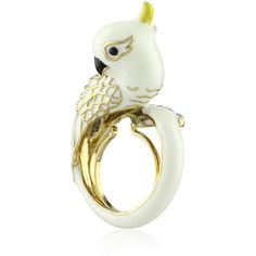 """Juicy Couture """"Palm Beach Poolside"""" Cockatoo White Ring, Size 7 found on Polyvore"""