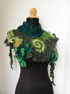 Free Spirit Springs Eternal Gypsy Shawl by TheArtofZenCrochet, $119.00