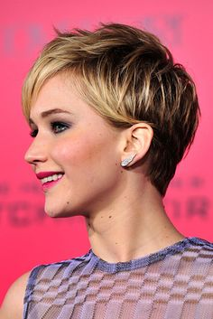 Jennifer Lawrence | The 18 Greatest Celebrity Pixie Cuts Of The Past Decade