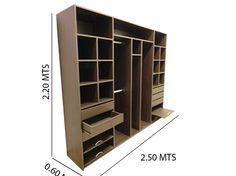 Placard 2.50mts Melamina- Factory Muebles - fabrica de muebles de melamina, placards, racks lcd, muebles a medida