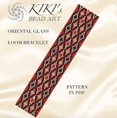 Bead loom pattern - Stained glass -oriental inspired LOOM bracelet pattern in PDF - instant download