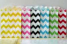 Chevron Bags - great for goodie bags