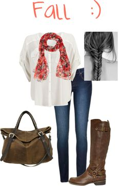"""""""Casual Fall outfit"""" by sagravel on Polyvore"""