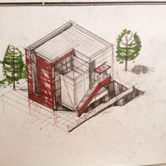 Freehand Architecture - Architectural Drawing and Design Daily Drawing, Drawing Tips, Architecture, Mantra, Drawings, Design, Arquitetura, Sketches, Draw
