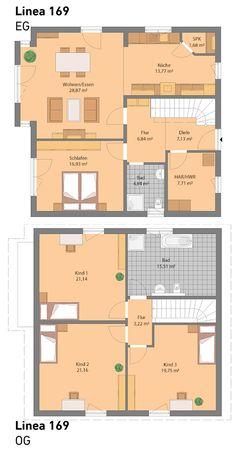 grundriss einfamilienhaus modern mit satteldach architektur 5 zimmer 150 qm wohnfl che ohne. Black Bedroom Furniture Sets. Home Design Ideas