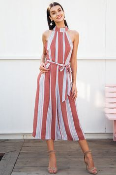 f759406e59a HALTER TOP STRIPE JUMPSUIT. Striped JumpsuitStrapless JumpsuitJumpsuits For WomenLong  JumpsuitsRompers WomenBohemian FashionPlaysuitFashion ...