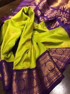 kanchipuram saree - Over Women's ethnic wear - top selection Pattu Sarees Wedding, Indian Bridal Sarees, Wedding Silk Saree, Indian Silk Sarees, Ethnic Sarees, Kanchipuram Saree Wedding, South Indian Sarees, Trendy Sarees, Stylish Sarees