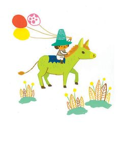 donkey and me notecard