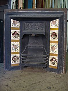 Edwardian & Federation Fireplaces : Edwardian Tiled Fire Grate