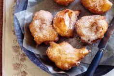 Apple and cinnamon choux fritters http://www.taste.com.au/recipes/27834/apple+and+cinnamon+choux+fritters