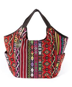 Red Embroidered Hobo Bag #zulily #zulilyfinds