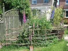 ... not a real fence ... but cute!