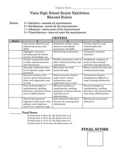 resume rubric example httpexampleresumecvorgresume rubric