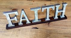 FAITH Wooden Sign, Word Art Letters for Table Top, Mantle or Shelf...................Free US Shipping