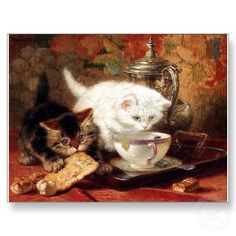 kittens_high_tea_party_postcard