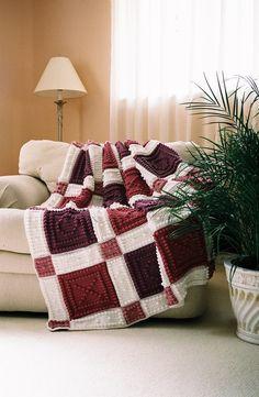 LOVE U pattern for crocheted blanket