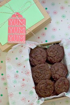 Chocolate Raspberry Cookies - Festively chocolate cookies studded with raspberry are a great holiday cookie.