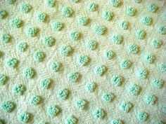 Morgan Jones Mint Green Pops with Lurex Vintage Cotton Chenille