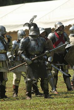 German 15 century knights and infantry