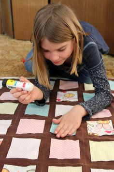A Cozy Flannel Quilt.  Might be fun to do with some of my students!