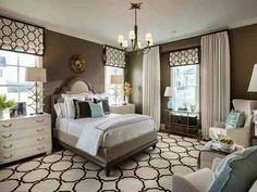 HGTV 2014 Smart Home  Love the matching area rug & roman shades