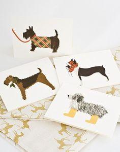 rifle paper co dog card set