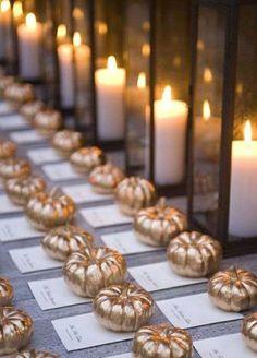 Gorgeous fall wedding decor.
