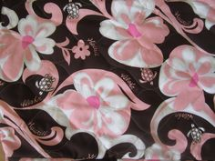 """$52.70 - Water-Resistant + Quilted + Separate Headrest Covers - """"PINK BROWN - FLOWERS""""!"""