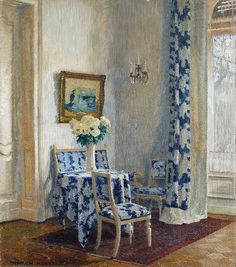 ◇ Artful Interiors ◇ paintings of beautiful rooms - Simerenya