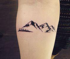 1000+ ideas about Mountain Tattoos on Pinterest | Tattoos, Tattoo Artists and Geometric Mountain Tattoo