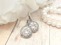 I own a pair of these and I love them. I go for them everyday. Thay are so pretty and sparkly and great everyday earrings. They go with everything. You will be happy you purchased these. Elegantly gift boxed. Thank you for looking