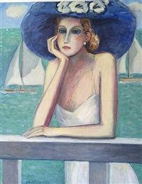 La Capeline Bleue by Jean-Pierre Cassigneul