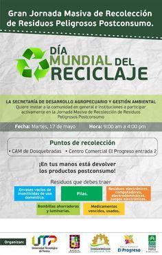Mañana, jornada masiva de recolección de Residuos Peligrosos Postconsumo