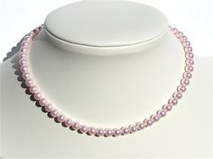 Girl's Pink Pearl Necklace by KatieBugCreations4U on Etsy, $13.00