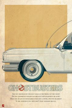 Ecto-1 triptych I of III by Staermose